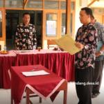 Camat Comal Pandu Pelantikan PAW BPD Kandang